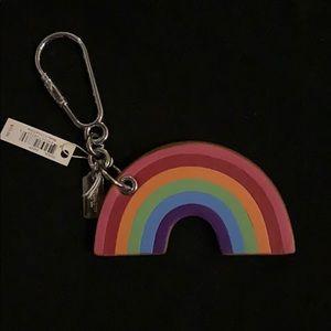 Coach leather rainbow keychain F65426